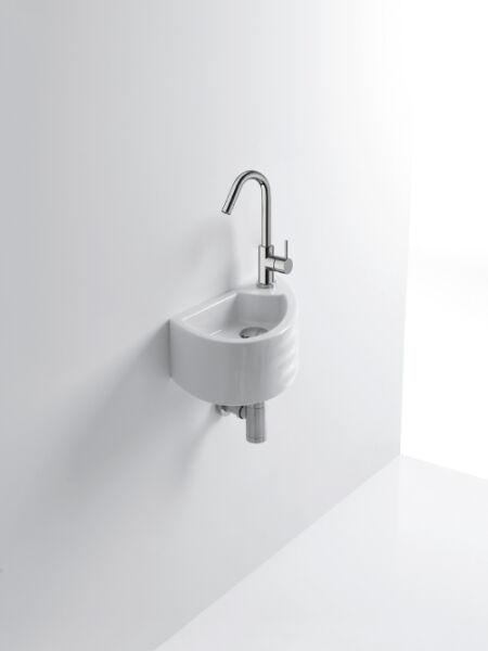 Lave mains ceramique giga l45 5xp25 5xh15 cm blanc for Lave main cuisine