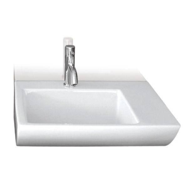 Lavabo ceramique om wall l50xp41 5xh16 cm blanc brillant achat vente ondyna - Lavabo ceramique blanc ...