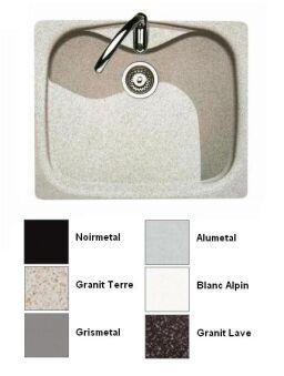LUISINA - Luisigranit - Eviers spéciaux - Cuve à encastrer Luisina 1 bac coloris Grismetal
