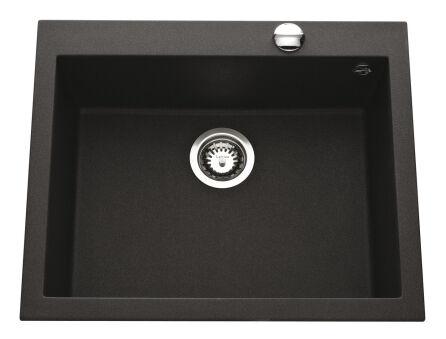 LUISINA - Luisigranit - Quadrille - Cuve à encastrer Luisina 1 bac coloris Noirmetal