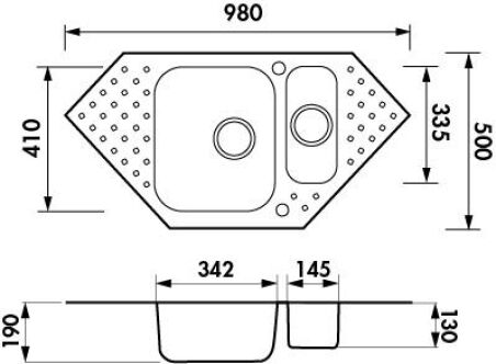 Evier Luisina - GALA Inox mini-structure EV6831P IMS