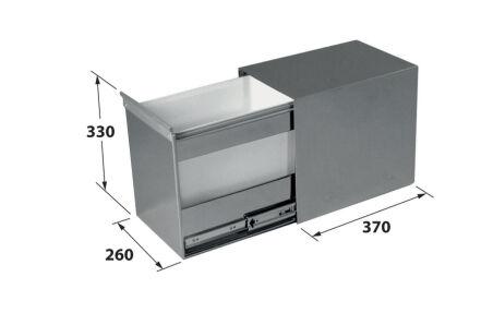 LUISINA - Inox Uno - Poubelle monobac 18 litres