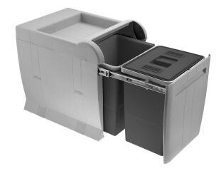 LUISINA - Ecoli - Poubelle tri sélectif 2 x 18 litres