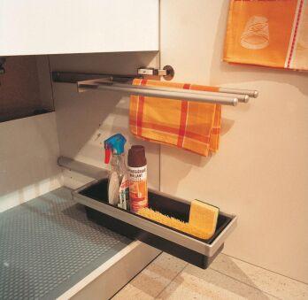 LUISINA - Bac coulissant double compartiment pour intérieur de meuble
