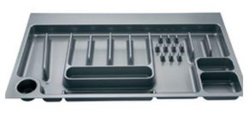 Luisina range couvert tiroir 90cm gris metalis zd r90 for Range couverts tiroir cuisine