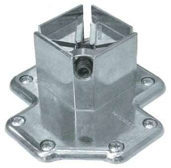LUISINA - Pied de table carré en acier chromé H 705 mm - 60 x 60 mm