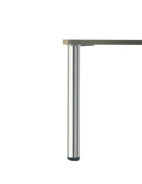 Luisina pied de table rond en inox poli h 700 mm 80 for Table cuisine 1 pied