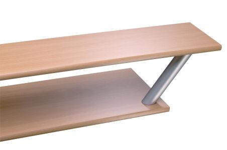 LUISINA - Supports de snack aluminium - Support de snack incliné, profil rond - Ø 40mm coloris Alumi