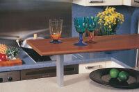 LUISINA - Supports de snack aluminium - Support de snack droit, profil rectangulaire - 40mm coloris