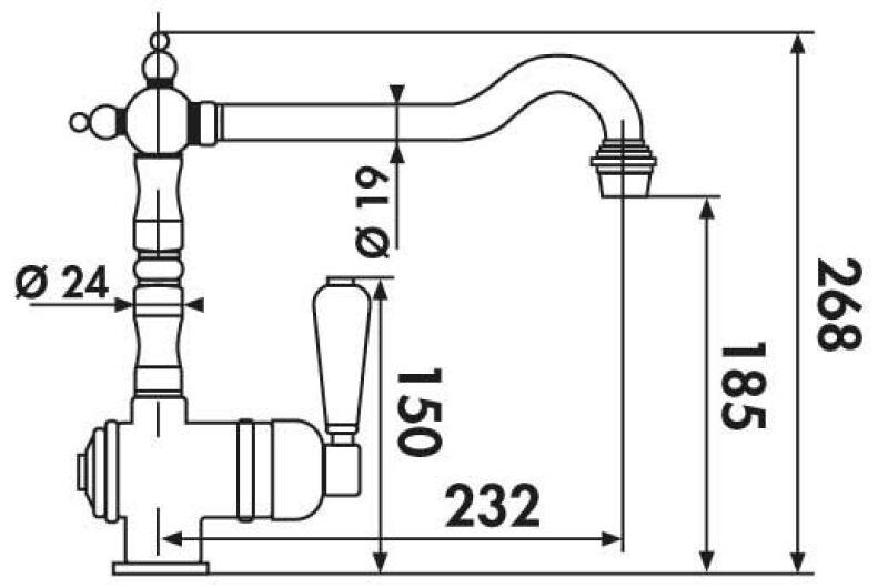 luisina mitigeur de cuisine luisina bec pivotant chrom achat vente luisina rc800 015. Black Bedroom Furniture Sets. Home Design Ideas