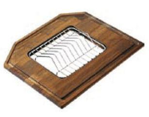 LUISINA - Planche à découper en iroko avec porte assiette intégré