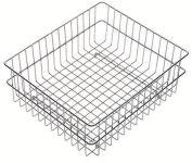 LUISINA - Panier vaisselle en fil chromé