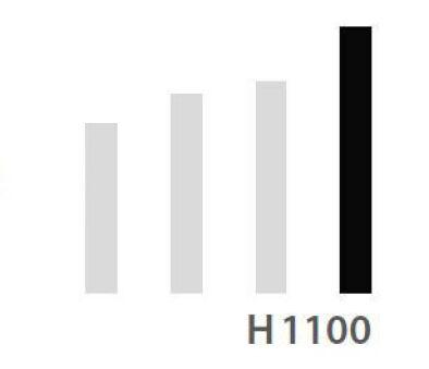 LUISINA - Pied central en acier alu H 1100 mm