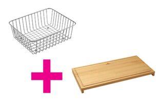 Set d'accessoires - Panier vaisselle Villeroy & Boch et planche à découper