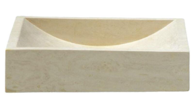 vasques vasque en pierre rectangulaire 40 45 10 cm sable. Black Bedroom Furniture Sets. Home Design Ideas