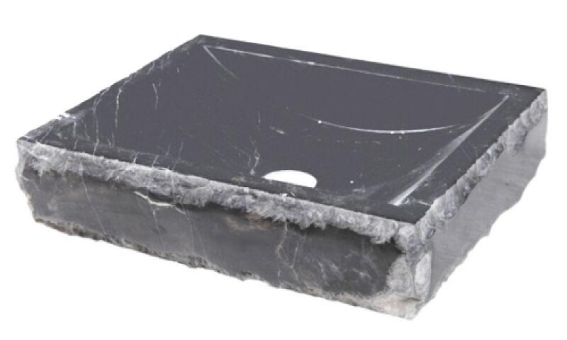 vasques vasque en pierre rectangulaire 40 45 10 cm noir achat vente ondyna uc3307. Black Bedroom Furniture Sets. Home Design Ideas