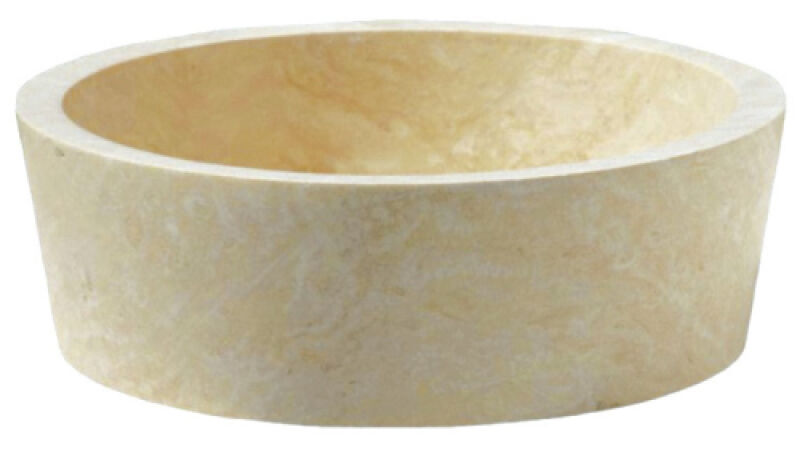 vasques vasque en pierre cylindrique d42 h15 cm sable. Black Bedroom Furniture Sets. Home Design Ideas
