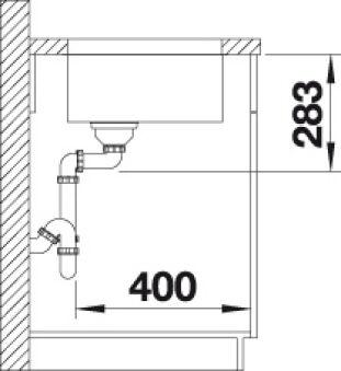 EVIER BLANCO SUPRA 400-U INOX MANUEL