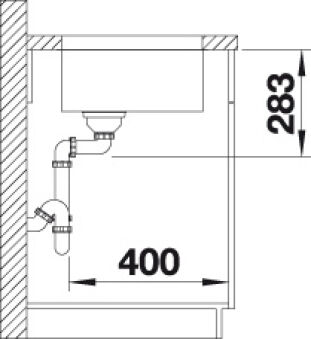 BLANCO SUPRA 450-U INOX MANUEL