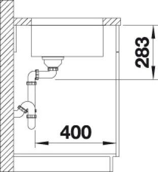 BLANCO SUPRA 500-U INOX AUTO