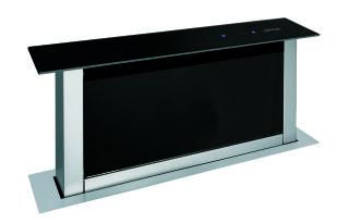 hottes plan de travail ahv68bk verre noir inox achat vente airlux ahv68bk. Black Bedroom Furniture Sets. Home Design Ideas