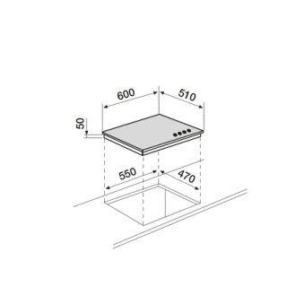 Table verre mixte 60 cm AIRLUX - AV647HBK