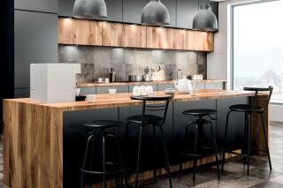 LUISINA - Jack - Tabouret Jack 66,5 cm avec assise vinyle noir et piètement métal noir